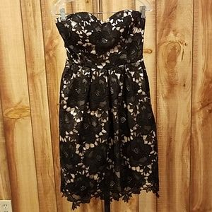 Modcloth Lasting Expression Black Lace Dress
